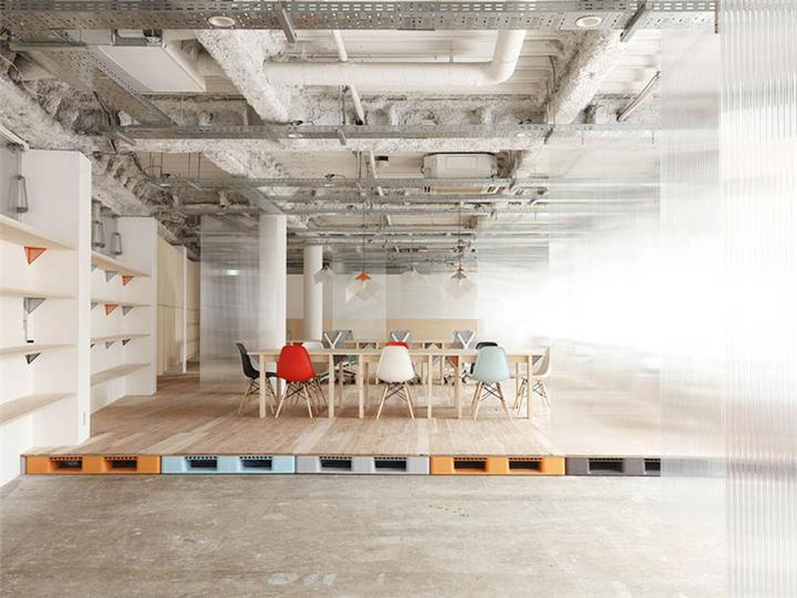 上海写字楼装潢- Mozilla日本办公室设计毛坯房的独特魅力