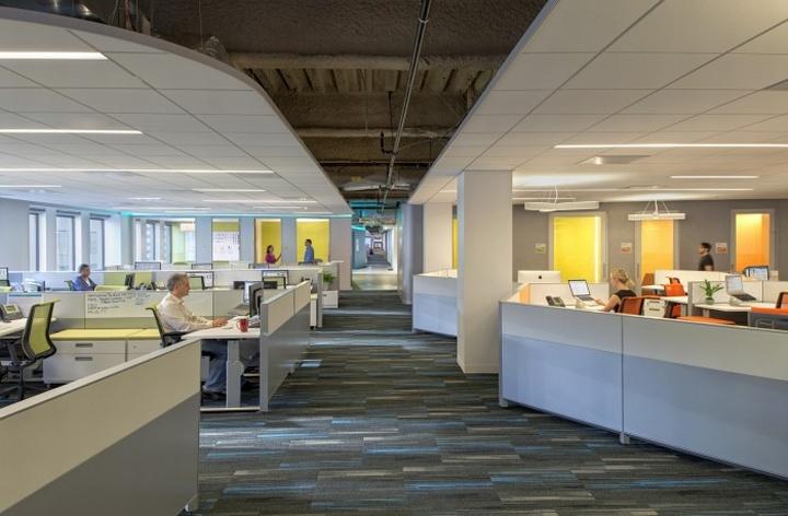 上海办公楼装修- 充满乐趣的旧金山KaiserPermanenteIT公司办公设计