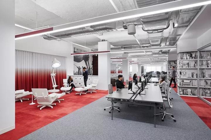 上海写字楼装修-办公室设计重点工位规划、空间利用、员工隐私