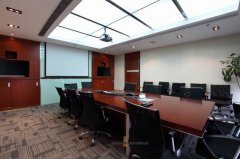 上海装修预算办公室装修前台和会议室