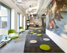上海办公楼装修设计中加入休闲的设计元素