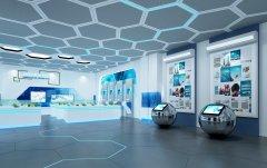 上海办公装修-科技智能展厅设计装修效果图