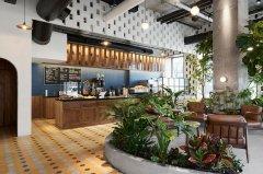 上海装修咖啡店设计效果图