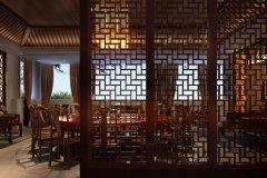 现代餐厅中式装修反应的是中国传统文化气氛